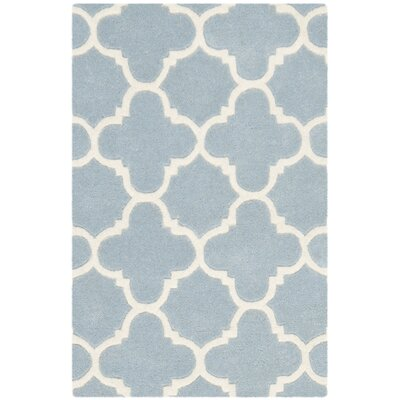 Wilkin Blue & Ivory Area Rug I Rug Size: Rectangle 2 x 3
