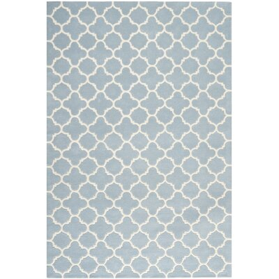 Wilkin Blue & Ivory Area Rug I Rug Size: 6 x 9