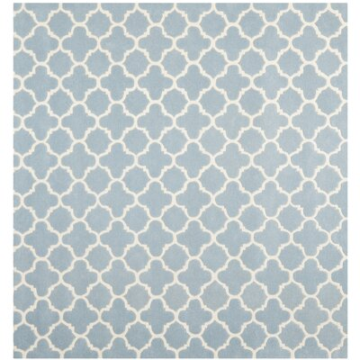 Wilkin Blue & Ivory Area Rug I Rug Size: Square 7