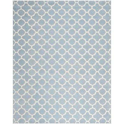 Wilkin Blue & Ivory Area Rug I Rug Size: 10 x 14