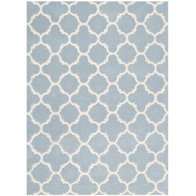 Wilkin Blue & Ivory Area Rug I Rug Size: 3 x 5