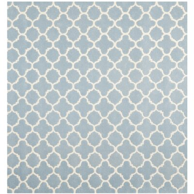 Wilkin Blue & Ivory Area Rug I Rug Size: Square 89