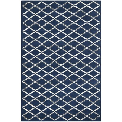 Wilkin Hand-Tufted Wool Dark Blue Area Rug Rug Size: Rectangle 3 x 5