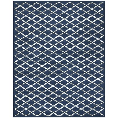 Wilkin Hand-Tufted Wool Dark Blue Area Rug Rug Size: Rectangle 8 x 10