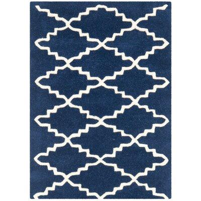 Wilkin Dark Blue / Ivory Rug Rug Size: 2 x 3