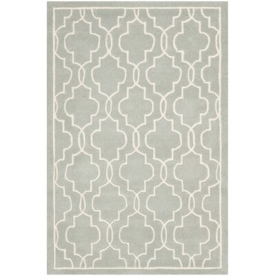 Wilkin Grey / Ivory Rug Rug Size: Rectangle 3' x 5'