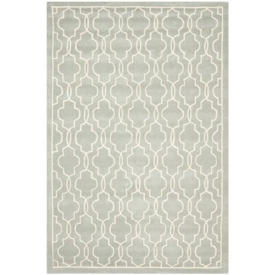 Wilkin Grey / Ivory Rug Rug Size: Rectangle 5' x 8'