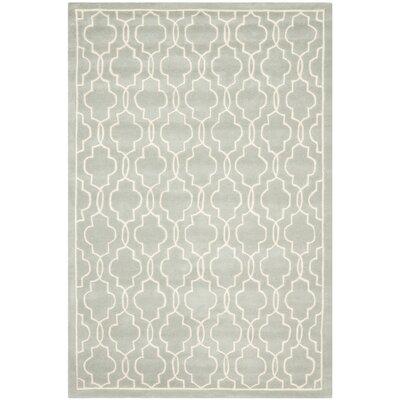 Wilkin Grey / Ivory Rug Rug Size: 5 x 8