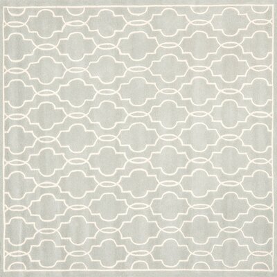 Wilkin Grey / Ivory Rug Rug Size: Square 5