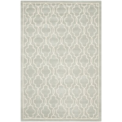 Wilkin Grey / Ivory Rug Rug Size: Rectangle 6' x 9'