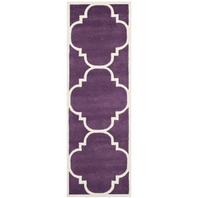 Wilkin Purple / Ivory Rug Rug Size: Runner 23 x 7