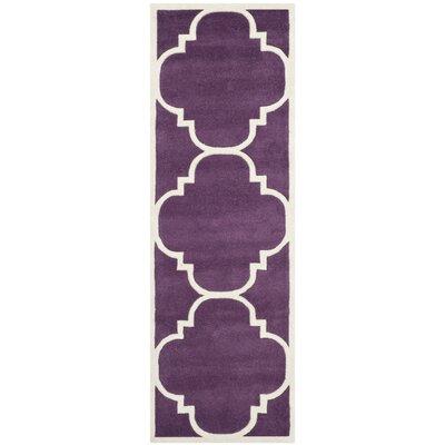 Wilkin Purple / Ivory Rug Rug Size: Runner 23 x 9