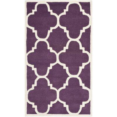 Wilkin Purple / Ivory Rug Rug Size: 3 x 5