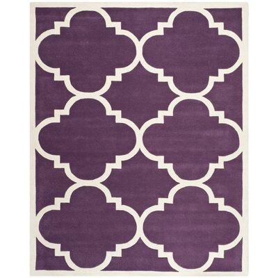 Wilkin Purple / Ivory Rug Rug Size: 8'9