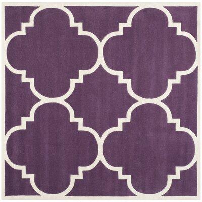 Wilkin Purple / Ivory Rug Rug Size: Square 8'9