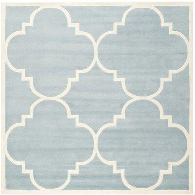 Wilkin Blue & Ivory Area Rug II Rug Size: Square 89