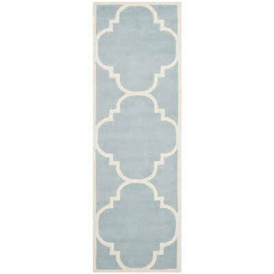Wilkin Blue & Ivory Area Rug II Rug Size: Runner 23 x 5