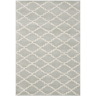 Wilkin Grey / Ivory Rug Rug Size: Rectangle 4 x 6