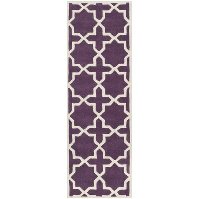 Wilkin Purple / Ivory Rug Rug Size: Runner 23 x 11