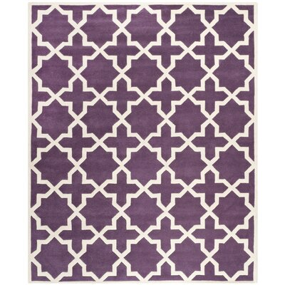 Wilkin Purple / Ivory Rug Rug Size: Rectangle 89 x 12