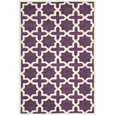 Wilkin Purple / Ivory Rug Rug Size: Rectangle 5 x 8