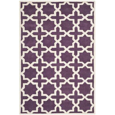 Wilkin Purple / Ivory Rug Rug Size: 5 x 8