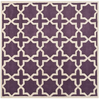 Wilkin Purple / Ivory Rug Rug Size: Square 89