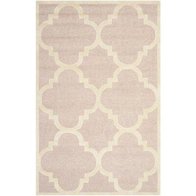 Charlenne Trellis Light Pink & Ivory Area Rug Rug Size: 3 x 5