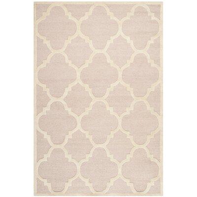 Charlenne Trellis Light Pink & Ivory Area Rug Rug Size: 6 x 9