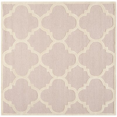 Martins Trellis Light Pink & Ivory Area Rug Rug Size: Square 8