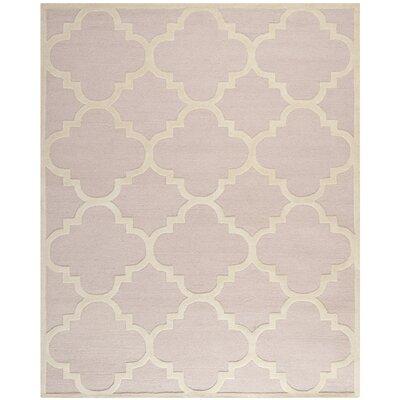 Charlenne Trellis Light Pink & Ivory Area Rug Rug Size: 9 x 12