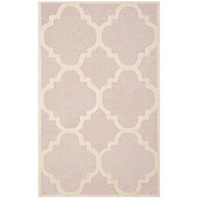 Charlenne Trellis Light Pink & Ivory Area Rug Rug Size: 4 x 6