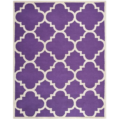 Martins Purple / Ivory Area Rug Rug Size: 9 x 12