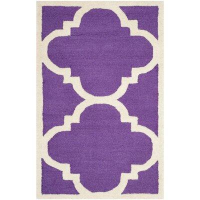 Martins Purple / Ivory Area Rug Rug Size: 2 x 3