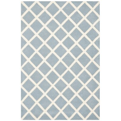 Wilkin Hand-Tufted Light Blue/Ivory Area Rug Rug Size: Rectangle 3 x 5