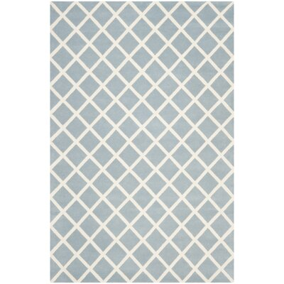 Wilkin Hand-Tufted Light Blue/Ivory Area Rug Rug Size: Rectangle 6 x 9