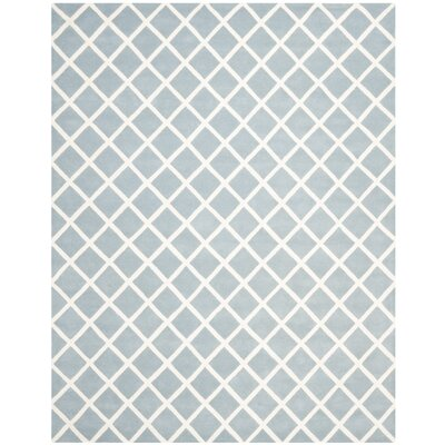 Wilkin Hand-Tufted Light Blue/Ivory Area Rug Rug Size: Rectangle 8 x 10