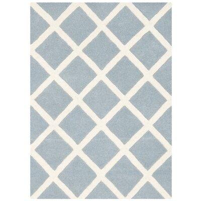 Wilkin Hand-Tufted Light Blue/Ivory Area Rug Rug Size: Rectangle 2 x 3