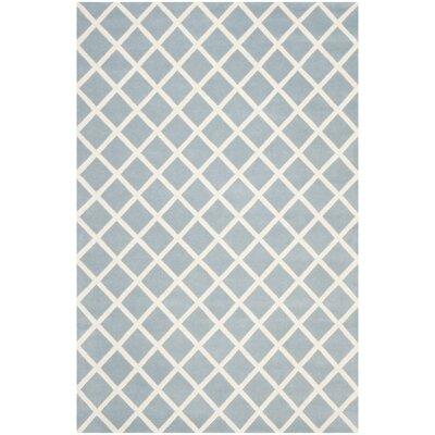 Wilkin Blue / Ivory Rug Rug Size: 6 x 9