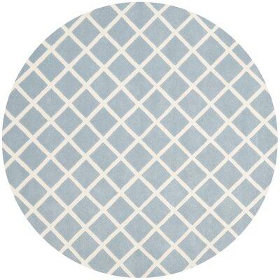 Wilkin Blue / Ivory Rug Rug Size: Round 7