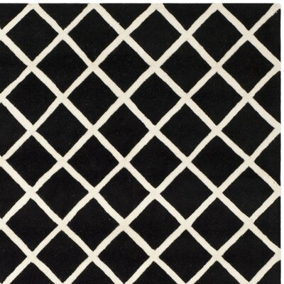Wilkin Black / Ivory Rug Rug Size: Rectangle 8 x 10