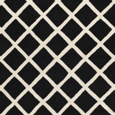 Wilkin Black / Ivory Rug Rug Size: Rectangle 6 x 9
