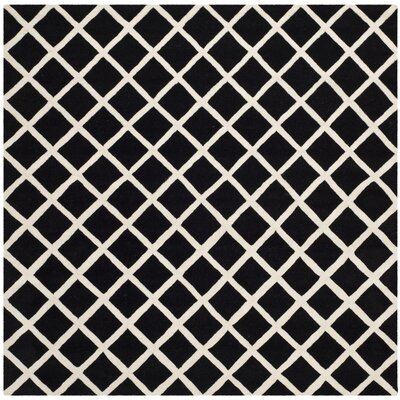 Wilkin Black / Ivory Rug Rug Size: Square 7