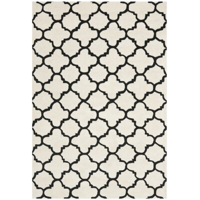 Wilkin Ivory/Black Area Rug Rug Size: 3 x 5