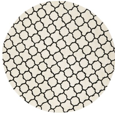 Wilkin Hand-Tufted Ivory/Black Area Rug Rug Size: Rectangle 6 x 9