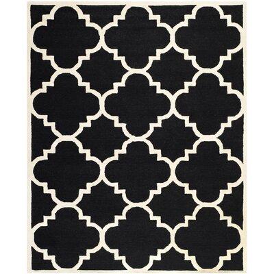 Charlenne Black / Ivory Area Rug Rug Size: 8 x 10
