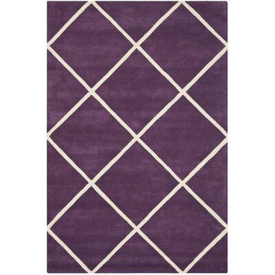 Wilkin Purple / Ivory Rug Rug Size: 6' x 9'