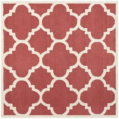 Martins Rust / Ivory Area Rug Rug Size: Square 6'