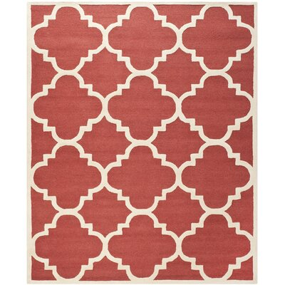 Martins Rust / Ivory Area Rug Rug Size: 2'6