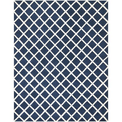 Wilkin Dark Blue / Ivory Rug Rug Size: Rectangle 9 x 12